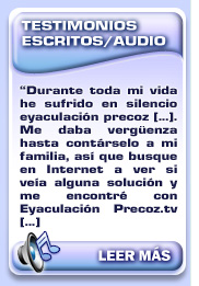 Testimonios escritos/audio